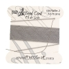 Dazzle-it 100% Silk Bead Cord with needle 2M #2(0.45mm) Grey